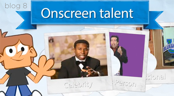 Do you have the onscreen talent for the video